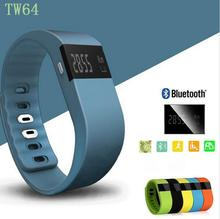 Newest TW64 Fitness Tracker Bluetooth Smartband Sport Bracelet Smart Band Wristband Pedometer For iPhone IOS Android PK Fitbit