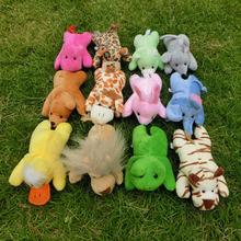 Full Set 12 Kinds Short Soft Plush Animals Magnetic Toys Baby Educational Fridge Magnets Toys 12cm Free Shipping(China (Mainland))