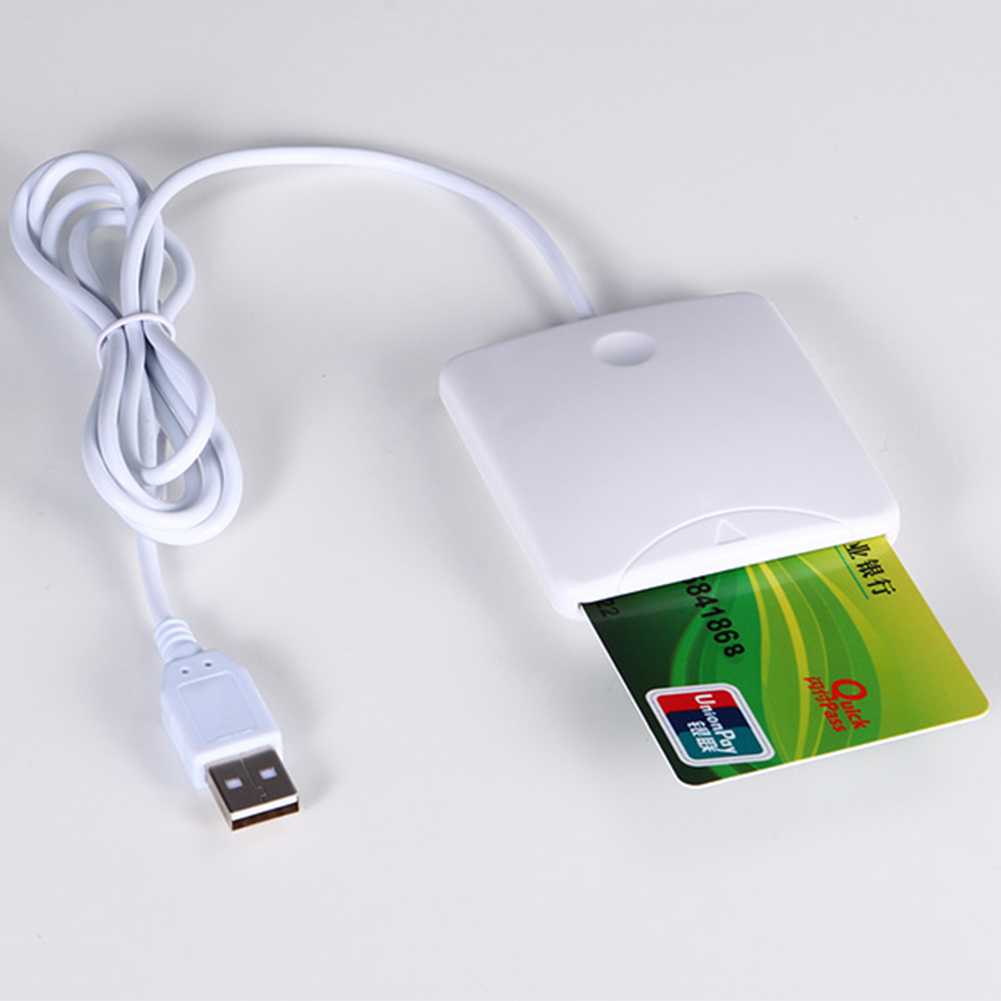 USB Smart Credit Card Reader Contact Smart Chip Card IC Cards Writer With SIM Slot For Smart Card(China (Mainland))