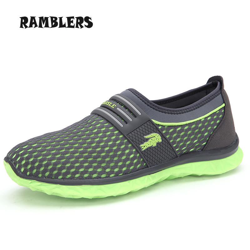 Гаджет  Summer Breathable Mens Sneakers LIghtweight Trekking Sport Shoes Casual Beach Slip On Walking Quick Drying Aqua Water Shoes None Обувь
