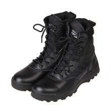 New Sport Army Men Combat Tactical Boots Outdoor Hiking Desert Leather Ankle Boots Military Male Combat Shoes Botas Hombre O1480(China (Mainland))