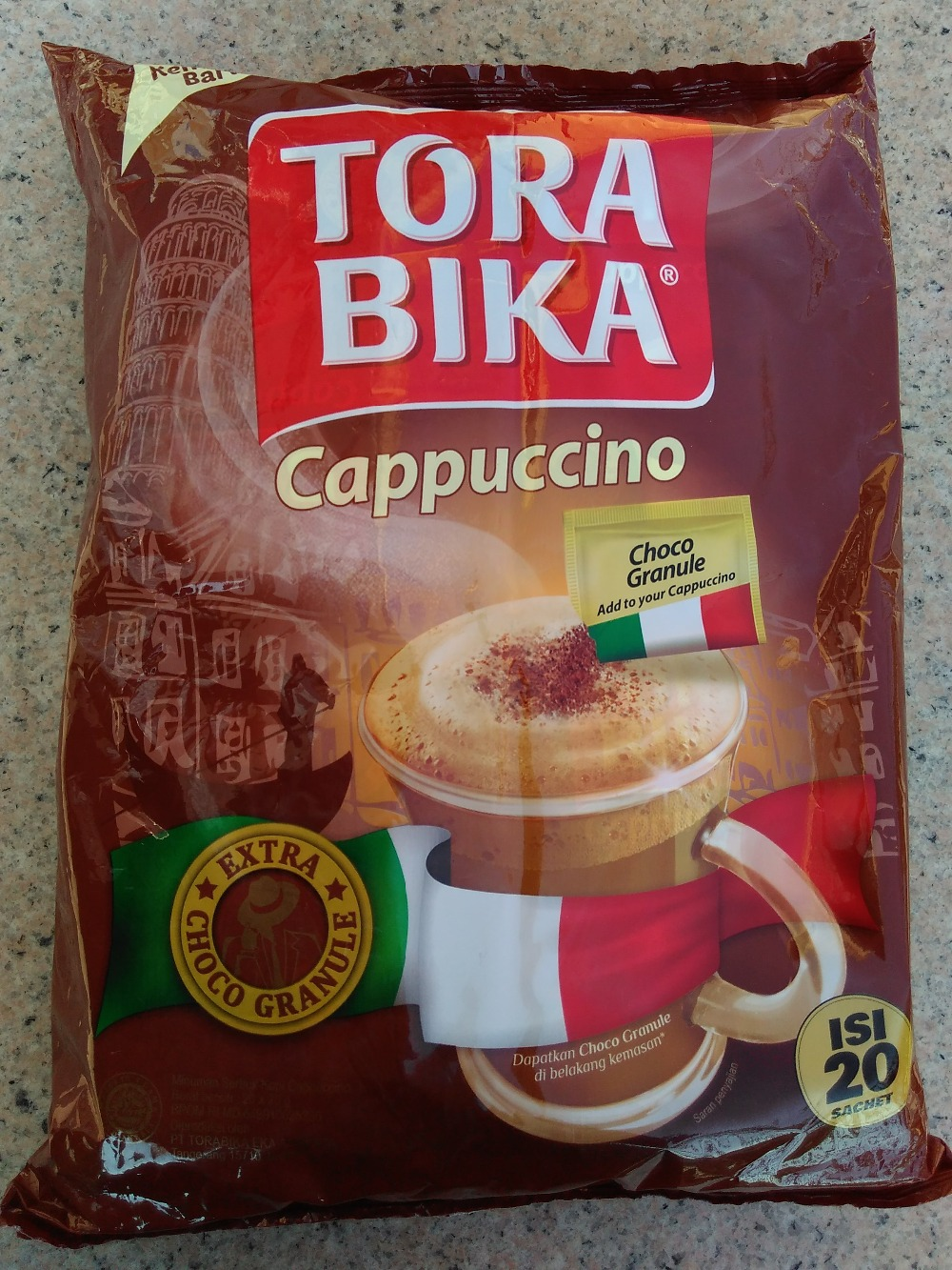 torabika cappuccino Indonesia triple imported original instant white coffee powdered alcohol tassimo cafeteras