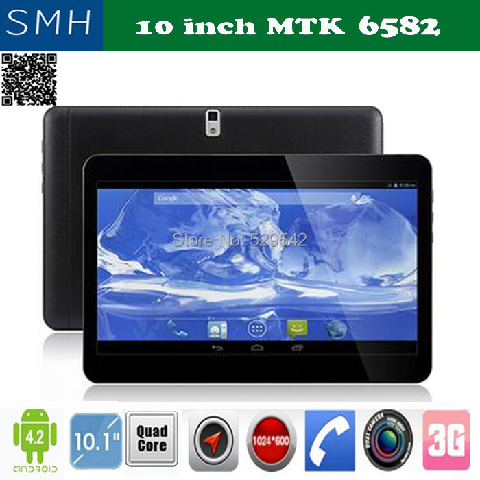 10 inch MTK6582 WCDMA 3G Phone tablet pc RAM 2GB ROM 16GB Quad Core1.5Ghz android 4.4.2 3G Tablet GPS bluetooth with 2 SIM Card(China (Mainland))