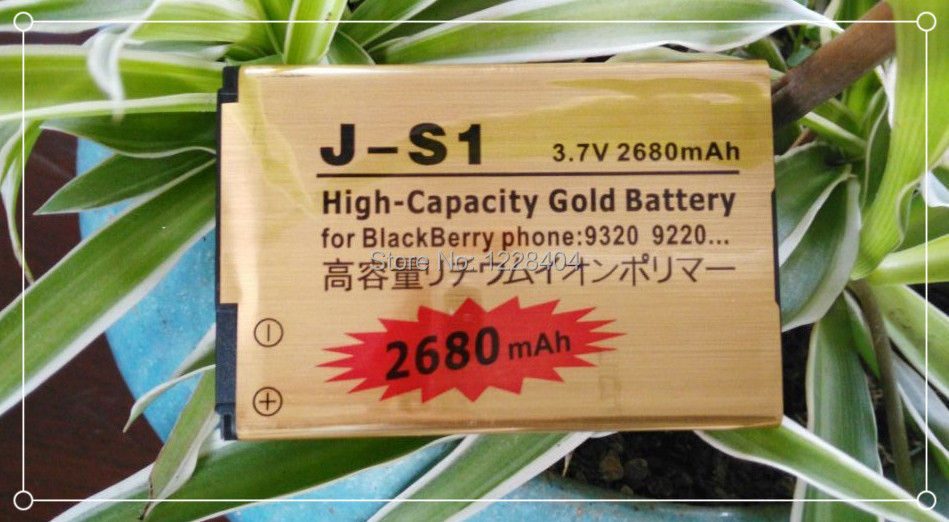 Free Shipping 2680mAh J-S1 High Capacity Cell Phone Gold Business Replacement Battery for Blackberry 9220 / 9310 / 9320(China (Mainland))