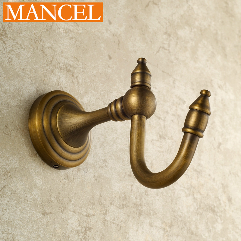 MANCEL Decorative Single Coat Hanger Hat Hook Bathroom Robe Hooks Wall Mounted Free Shipping M0908(China (Mainland))