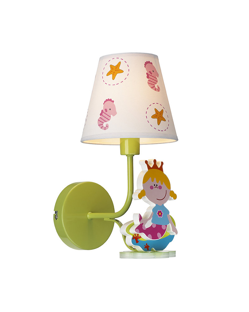 Childrens Wall Lamp Shades : Cute Cartoon Wall Sconce Mermaid Princess Theme Wall Lamp Bedroom LED Light for Children s Room ...
