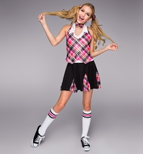 Female Scottish font b tartan b font dress dance clothes suit female original single modern dance