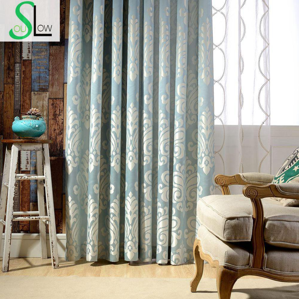 Sicily High grade Precision Jacquard Curtain Fabric Mediterranean Style Floral Curtains Embroidered Sheer For Living Room(China (Mainland))