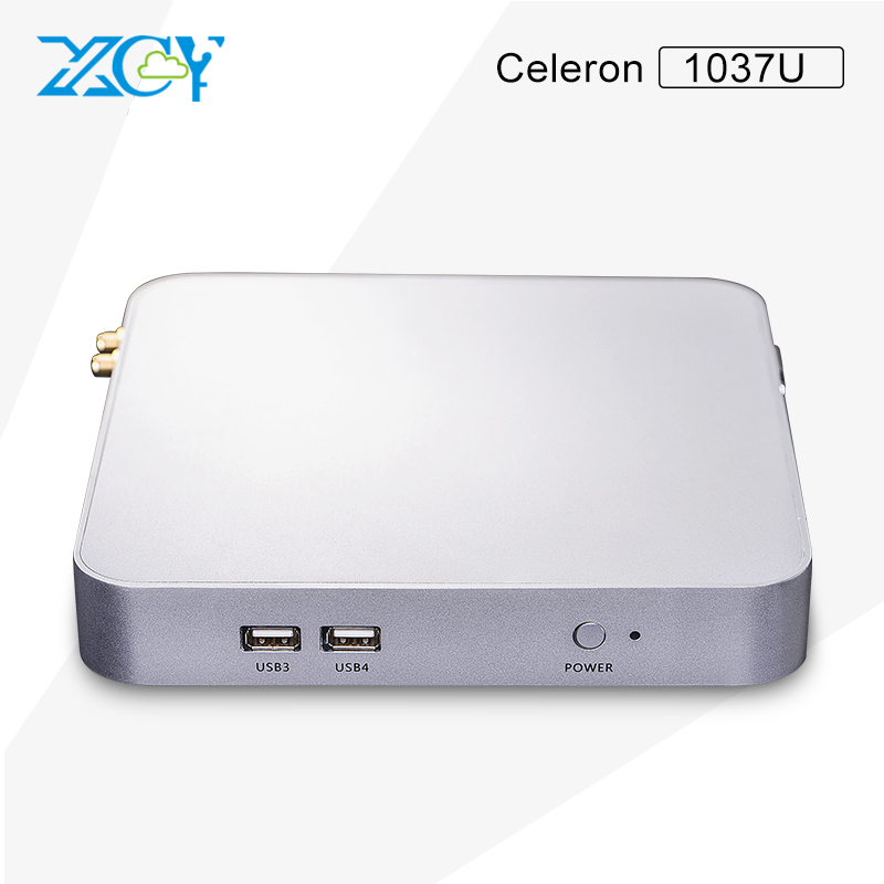XCY newest mini computer pc celeron dual-core C1037U Aluminium alloy pc case small host gaming home or office computer(China (Mainland))
