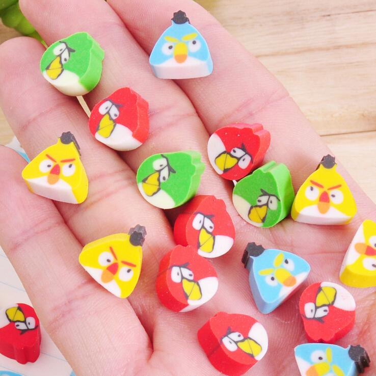 100 pcs/lot Mini Kawaii Cartoon Birds Eraser for Gift Kids Children School Supplies Materail Korean Stationery Free shipping<br><br>Aliexpress