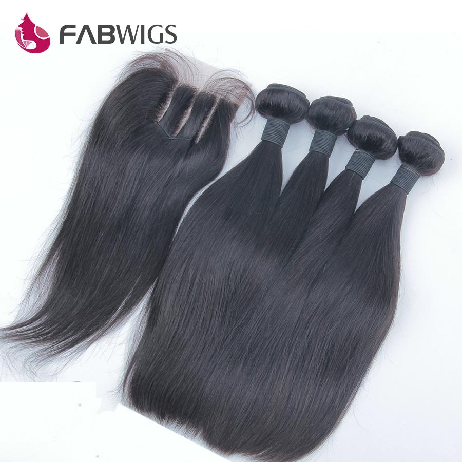 Гаджет  5pcs lot Queen Brazilian Virgin Hair Straight 3 Part Lace Closure with Brazilian Hair Weave Bundles Human Virgin Hair Extension None Волосы и аксессуары