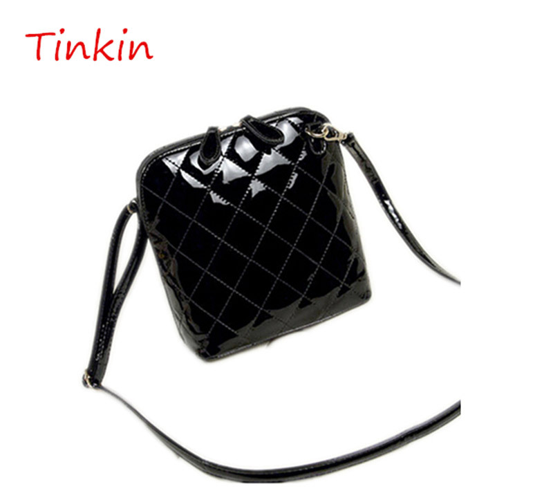 Tinkin Women's bags 2015 shell embroidered small cross body bag vintage plaid women shoulder bag fashion women messenger bags(China (Mainland))