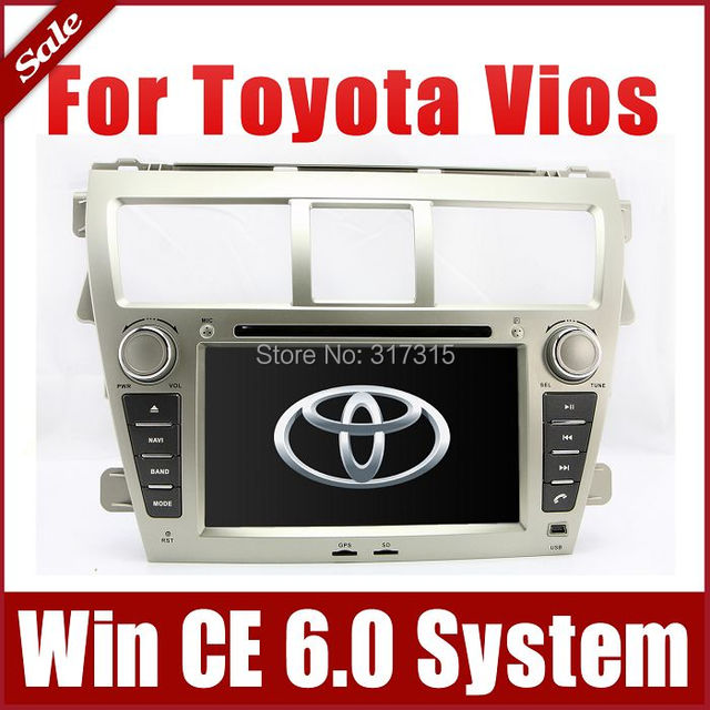 "7"" 2-Din Car DVD Player for Toyota Vios 2007-2013 w/ GPS Navigation Radio Bluetooth TV Map USB SD AUX Auto Stereo Audio Sat Nav"