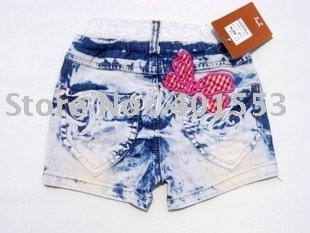 Mixed  Free Shipping Wholesale 10pc/lot children jeans,short pants,shorts baby clothing children's jeans fashion jeans/8876
