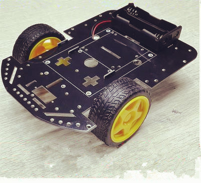 2WD samrt car chassis,PCB chassis high quingity with Ar dui no interface/Universal wheel motors,wheels, robot car parts for DIY(China (Mainland))