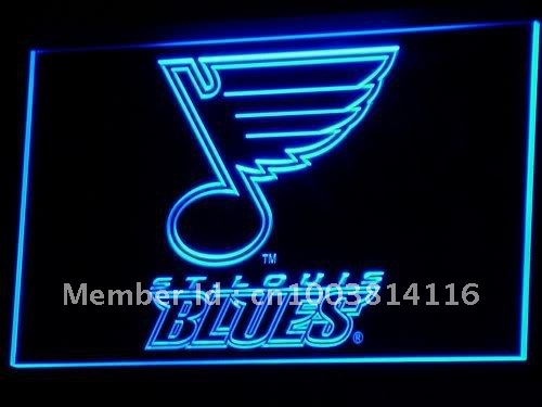 b101-b St. Blues Hockey Bar LED Neon Sign with On/Off Switch 7 Colors to choose(China (Mainland))