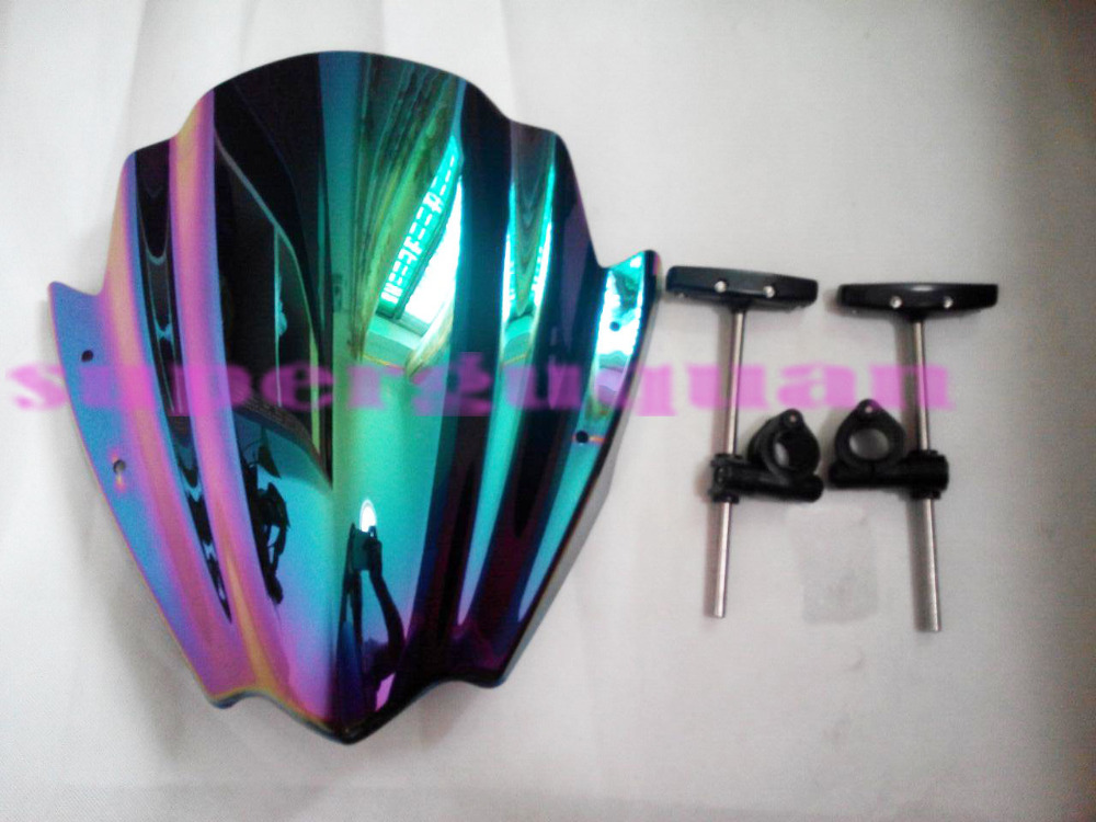 New bike motorcycle/motorbike Windshield/Windscreen multicolor For Kawasaki Z250 Z300 Z750 Z750R Z800 Z1000(China (Mainland))