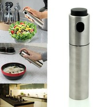 ASLT 1Pcs Stainless Steel Spray Pump Fine Mist Olive Pump Spray Bottle Oil Sprayer Pot Cooking Tool HOT Free Shipping(China (Mainland))