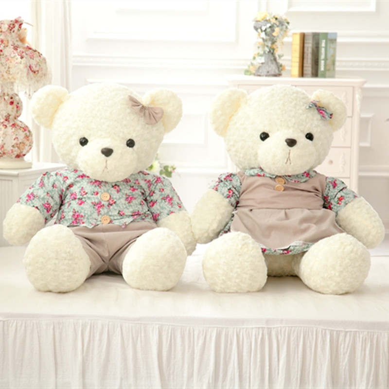 35 Couple Teddy Bear Plush Toy 90cm size Wedding Bear Doll Gift For Lovers New Style High Quality Soft Stuffed Bear 1pair<br><br>Aliexpress