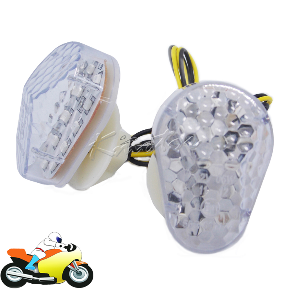 12v Motorcycle Flush Mount Turn Signals LED Flasher Indicator Lamp Blinker Light for Kawasaki ZX6R ZX7R ZX9R ZX636 ZZR600 ZX12R(China (Mainland))