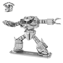 Wholesale 3D Metal Puzzles Robot Gundam Zaku ZUGOCK Jigsaws DIY New Year Gift Building Model Educational Toy for Kids