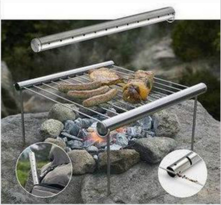 en plein air portable pliable barbecue grill barbecue grill fournitures de camping dans. Black Bedroom Furniture Sets. Home Design Ideas