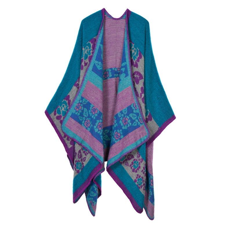 Luxury Brand Scarf Women 2017 Fashion Women's Winter Scarf Flowers Long Section Cashmere Scarf Thicken Warm Shawl 130*150CM
