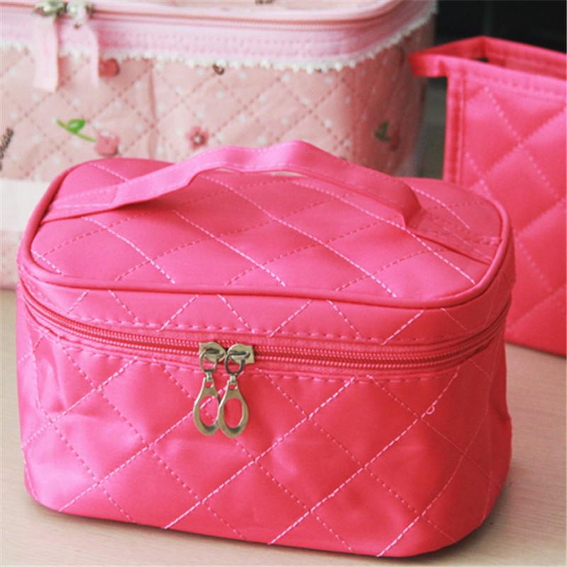 4 Colors Make up organizer bag Women Men Casual travel bag multi functional Cosmetic Bags storage bag in bag Makeup Handbag Best(China (Mainland))