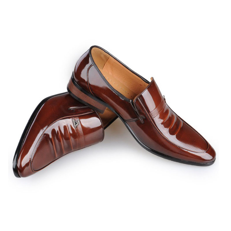 Men Genuine leather brand shoes commercial real leather male shoes fashion wedding shoes breathable casual shoes flats for men(China (Mainland))