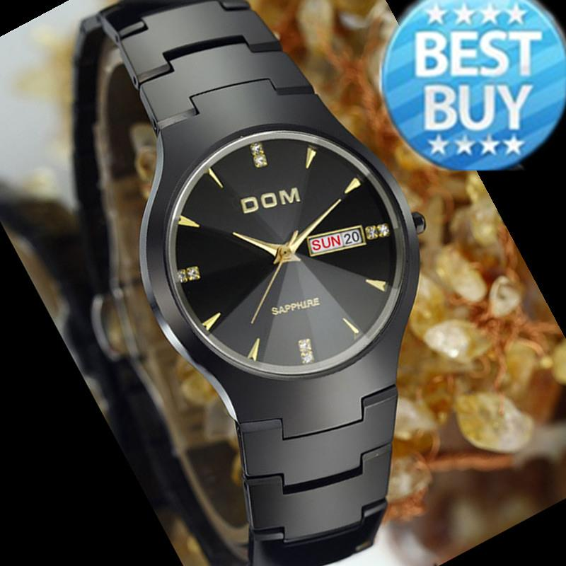 Watches men luxury brand Top Watch DOM quartz men sport wristwatches dive 200m fashion casual watches