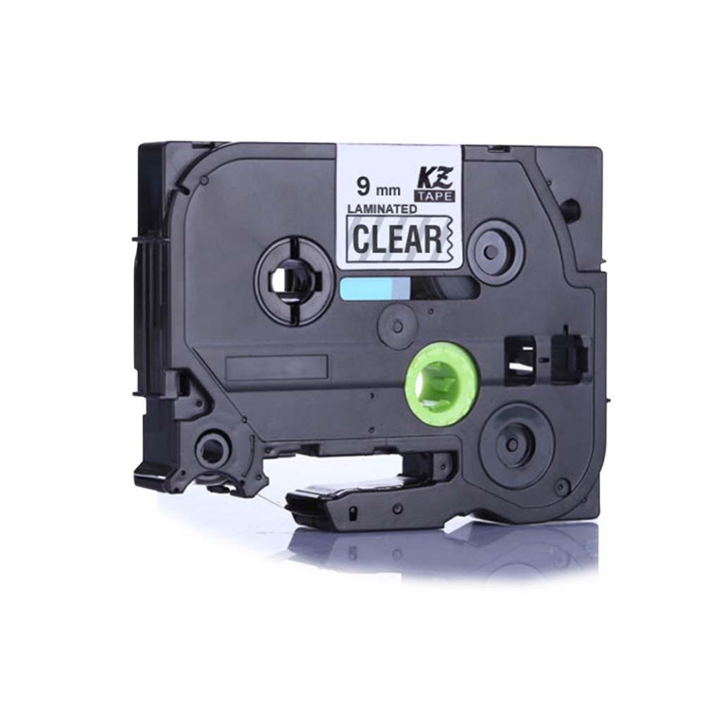 25PCS for brother label printer tze tz tape 9mm*8m black on clear tze121 tz121 tze-121 p-touch Printer Ribbons label maker<br><br>Aliexpress