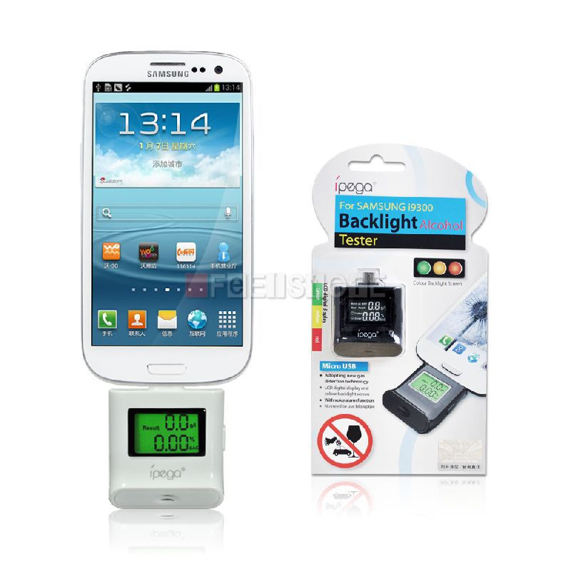 Alcohol Tester With Light Micro Usb Plug For Samsung Galaxy Note 4 3 2/S5 S4/HTC One X M8/Desire 820/HUAWEI Ascend Mate7 G7 P7(China (Mainland))