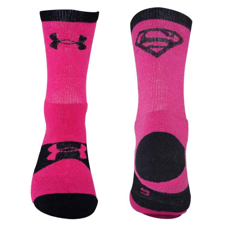 2015 Cartoon Superman elite basketball socks thick terry Cotton socks male professional sports socks