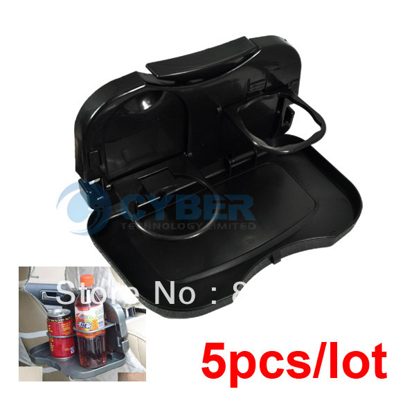 5Pcs/Lot Multi Tray Food Car Stand Rear Seat Beverage Rack water Drink Holder Bottle Travel mount folding meal Cup desk table(China (Mainland))