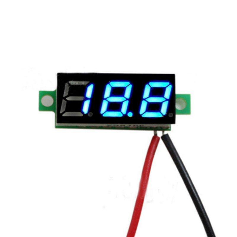 0.28 Inch 2.5V-30V Mini Digital Voltmeter Voltage Tester Meter Electronic Parts Accessories Digital Voltmeter LED Screen(China (Mainland))