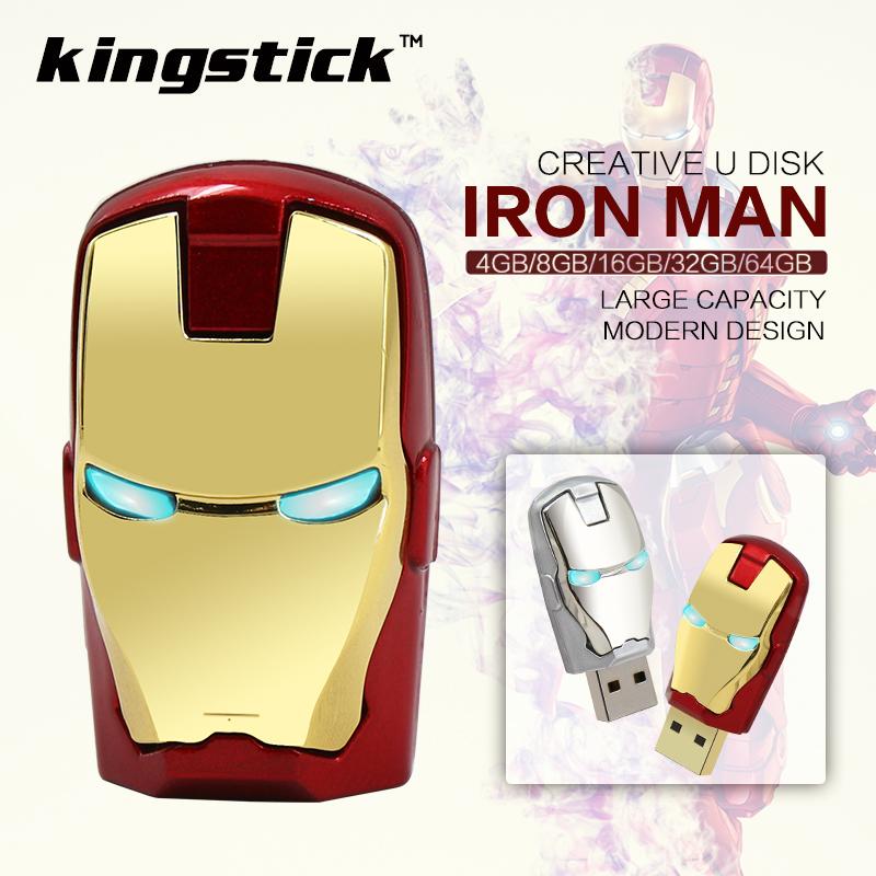 Iron Man pendrive USB Flash Drive Pen Drive64GB 32GB 16GB 8GB 4GB Pendrive Flash Card Memory Stick Drives Fashion Avengers(China (Mainland))