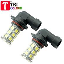 TRICOLOUR 1000 X 9005 9006 27 smd 5050 led HB3 HB4 Car DRL Daytime Driving Light Head Fog LED Lamp bulb White Blue 12V #LI03(China (Mainland))