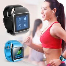 2015 sport Bluetooth Digital Watch MP3 with touch screen 8GB mp3 support running pedometer Bluetooth transmitter FM radio(China (Mainland))