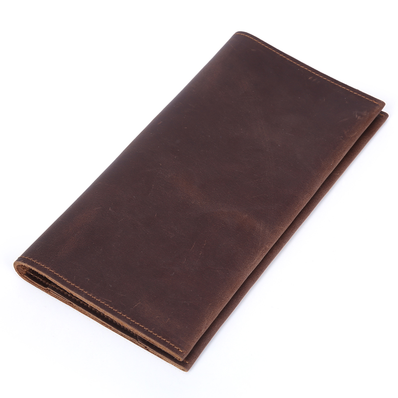 TIDING Men Women Soft Genuine Leather Long Wallet Cowhide Leather Passport Holder For Travel 4066(China (Mainland))