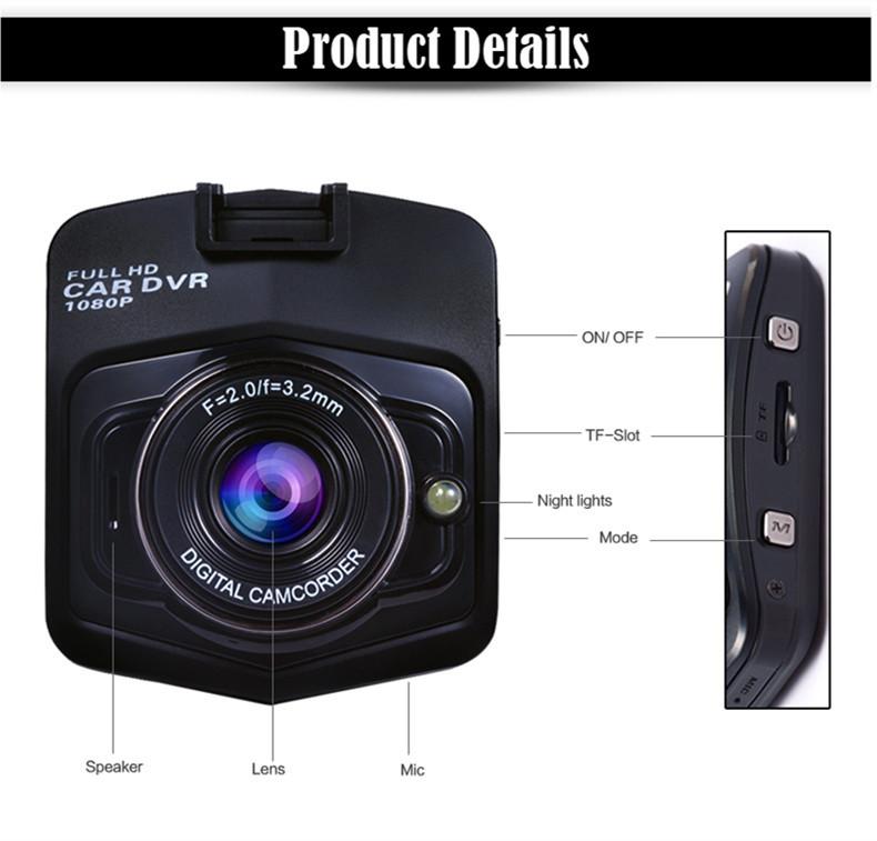 """Купить 2016 Новый Даш Cam Full HD 1080 P 2.4 """"автомобильные Видеорегистраторы GT300 Новатэк NT96650 Камеры Автомобиля Рекордер С WDR Ночного Видения G-Sensor Автомобильный ВИДЕОРЕГИСТРАТОР"""