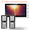 FREE SHIPPING Home Security 9 Color Screen Video Intercom Door phone System With 2 Night Vision