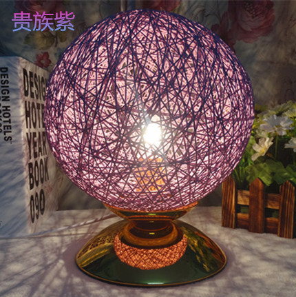 Bedroom bedside lamp modern minimalist creative fashion sphere Cheap Continental IKEA a small lamp table lamp twine takraw(China (Mainland))
