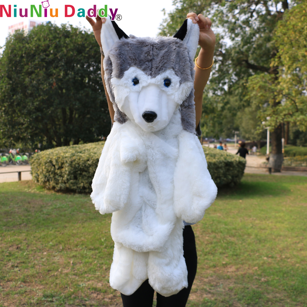 Niuniu Daddy,90cm Semi-finished dog skin , Husky Dog Plush Toy Gift For Kids baby toy birthday present Stuffed Plush Toy(China (Mainland))