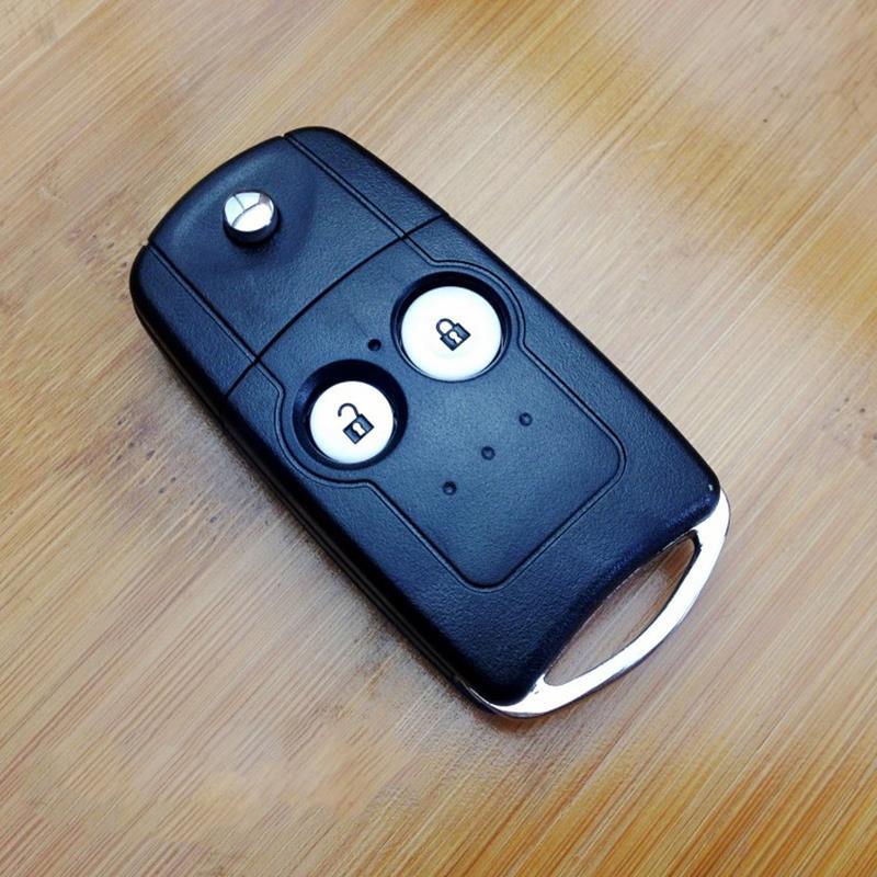 For Honda Civic 2 Button Flip Key Fob Uncut Blade For Honda Car Key Cover No Chips Smart Remote Key Case Modified Flip Key Fob(China (Mainland))