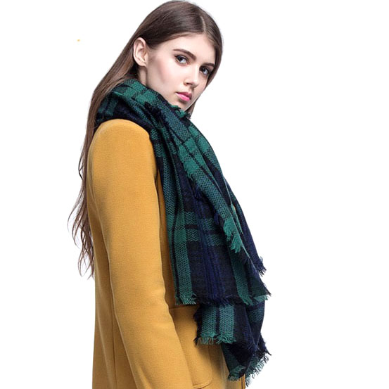 Za winter sjaal 2016 font b Tartan b font Sjaal vrouwen Plaid Sjaal cuadros Nieuwe Designer