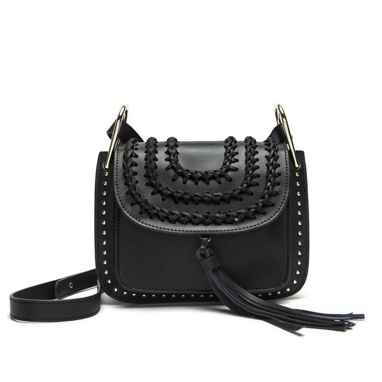 2015 Fashion Famous Brand Flag Bag Bohimian Style Saddle Tsssel Bag Women Genuine Leather Messenger Bag Lady's Shoulder Bag