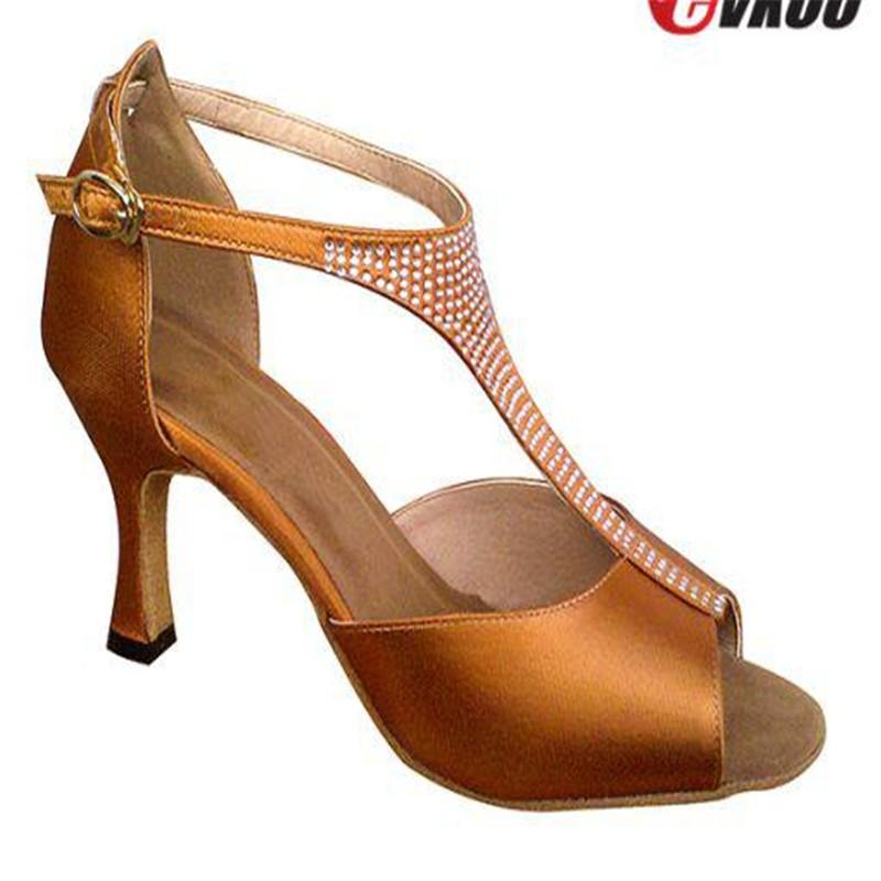 FREE SHIPPING EVKOO Ballroom Latin Salsa Dance Shoes Ballroom Latin Dance Shoes with 3 inches heel 4818801<br><br>Aliexpress