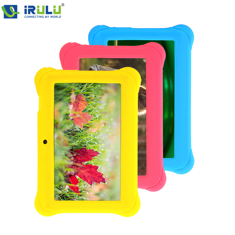iRULU Y1 BabyPad 7'' Android 4.4 Tablet for Kids Quad Core Dual Cameras Google GMS Test 1GB RAM with Silicone Case Candy Color(China (Mainland))