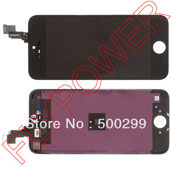 For iPhone 5s LCD Screen Display with Touch Screen Digitizer +frame Assembly by free shipping; black; 100% original