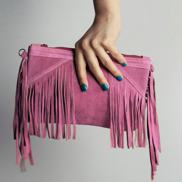 European Style New Women Tassel Bag Ladies Shoulder Messenger Bags Ladies Suede Fringe Clutch Bag Bolsas 8 Colors Available(China (Mainland))